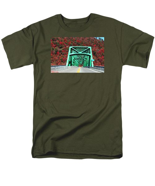 Autumn Bridge Men's T-Shirt  (Regular Fit) by Michael Rucker