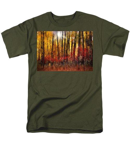 Autumn Light Men's T-Shirt  (Regular Fit) by Leland D Howard