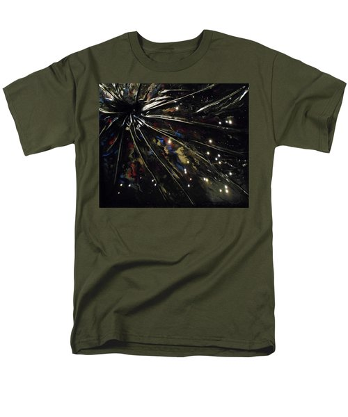 Men's T-Shirt  (Regular Fit) featuring the mixed media Black Hole by Angela Stout