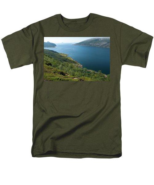 Blue Fjord Men's T-Shirt  (Regular Fit) by Tamara Sushko