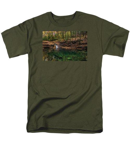 Blue Ridge Cascade Men's T-Shirt  (Regular Fit) by Serge Skiba