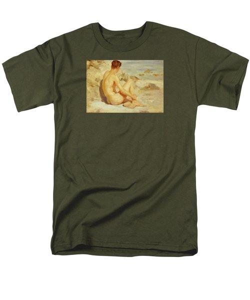 Boy On A Beach Men's T-Shirt  (Regular Fit) by Henry Scott Tuke