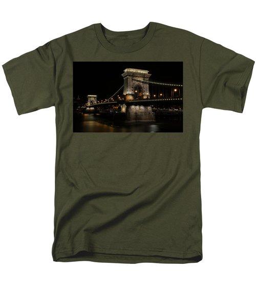 Budapest At Night. Men's T-Shirt  (Regular Fit) by Jaroslaw Blaminsky