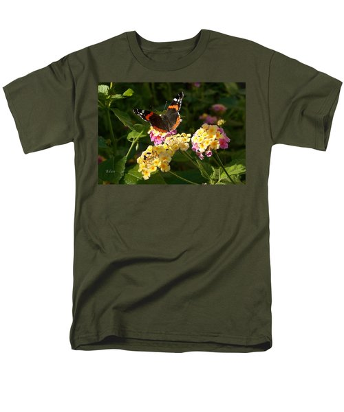 Men's T-Shirt  (Regular Fit) featuring the photograph Busy Butterfly Side 2 by Felipe Adan Lerma