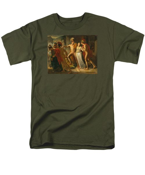 Men's T-Shirt  (Regular Fit) featuring the painting Castor And Pollux Rescuing Helen by Jean-Bruno Gassies