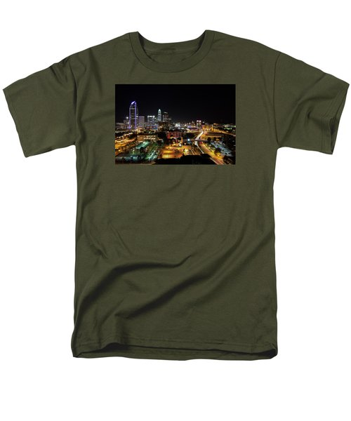 Men's T-Shirt  (Regular Fit) featuring the photograph Charlotte Skyline by Serge Skiba