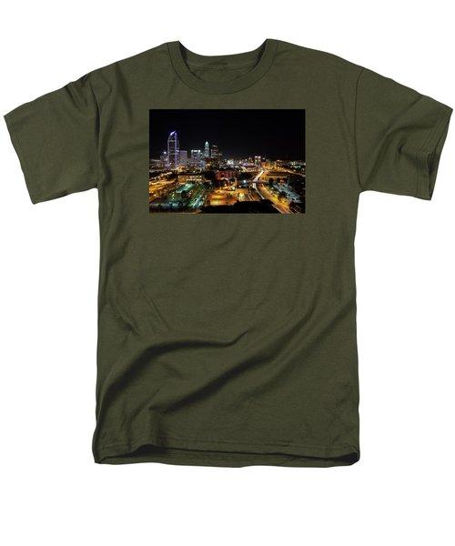 Charlotte Skyline Men's T-Shirt  (Regular Fit) by Serge Skiba