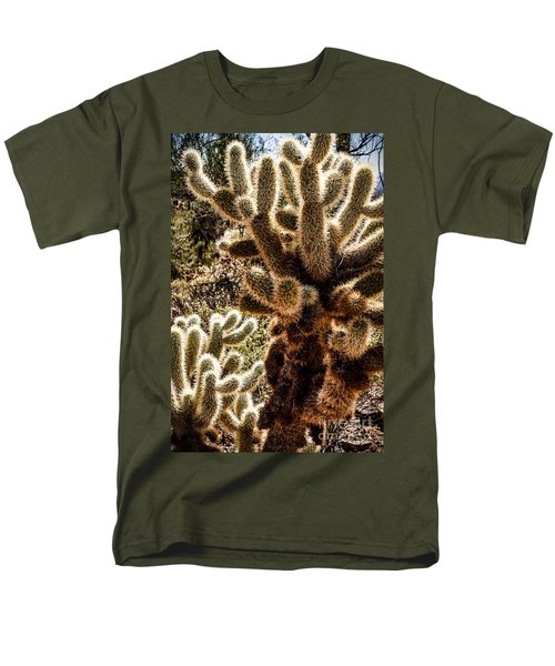 Men's T-Shirt  (Regular Fit) featuring the photograph Cholla Cacti by Lawrence Burry