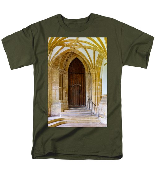 Cloisters, Wells Cathedral Men's T-Shirt  (Regular Fit) by Colin Rayner