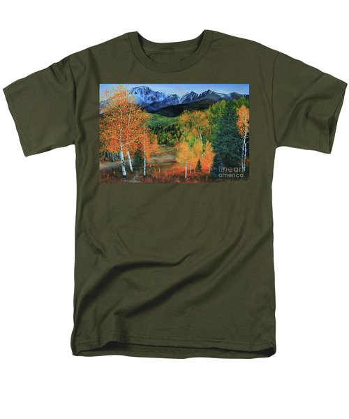 Colorado Aspens Men's T-Shirt  (Regular Fit) by Jeanette French