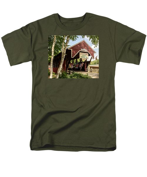 Covered Bridge Gift Shoppe Men's T-Shirt  (Regular Fit) by Sherman Perry