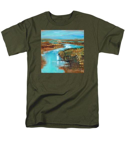 Curve In The Waterway Men's T-Shirt  (Regular Fit)