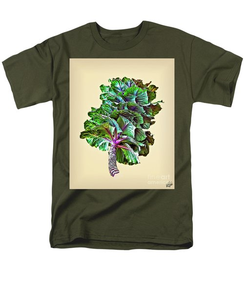 Men's T-Shirt  (Regular Fit) featuring the photograph Decorative Cabbage by Walt Foegelle