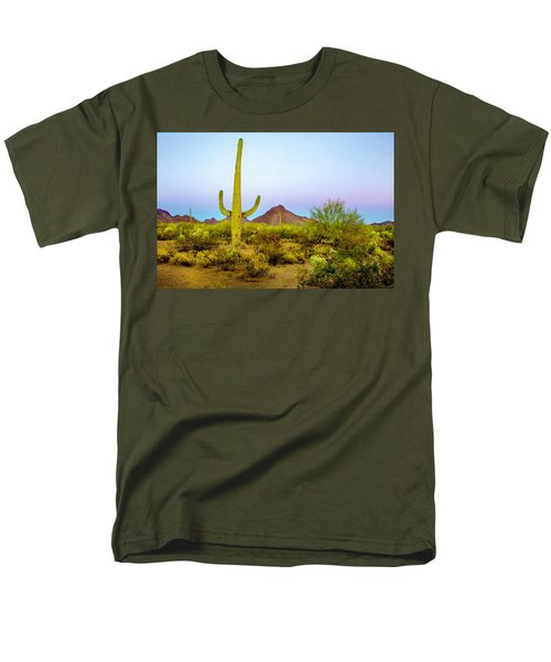 Men's T-Shirt  (Regular Fit) featuring the photograph Desert Beauty by Barbara Manis