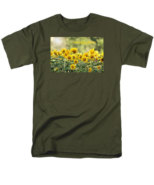 Men's T-Shirt  (Regular Fit) featuring the photograph Earth Laughs In Flowers by Lila Fisher-Wenzel