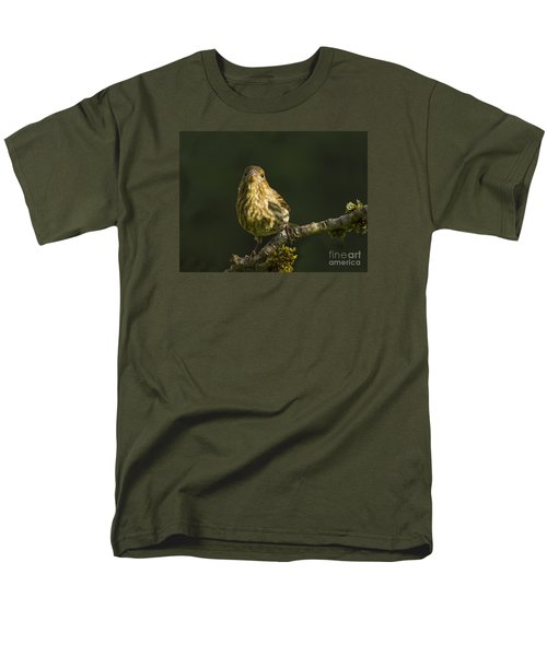 Men's T-Shirt  (Regular Fit) featuring the photograph Female House Finch by Inge Riis McDonald