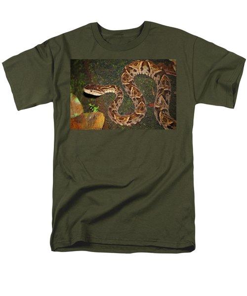Men's T-Shirt  (Regular Fit) featuring the photograph Fer-de-lance, Bothrops Asper by Breck Bartholomew