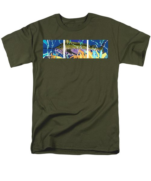 Men's T-Shirt  (Regular Fit) featuring the mixed media Fiesta by Andrew Drozdowicz