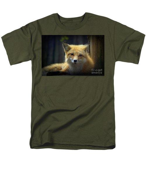 Men's T-Shirt  (Regular Fit) featuring the photograph Fox by Lisa L Silva