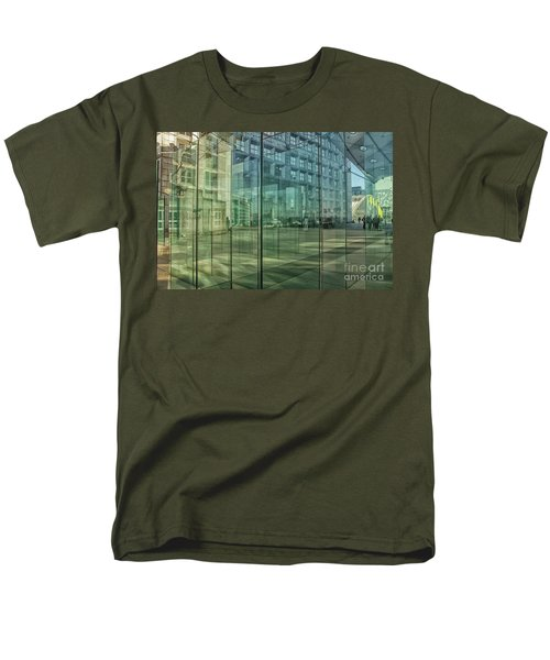 Men's T-Shirt  (Regular Fit) featuring the photograph Glass Panels At Le Grande Arche by Patricia Hofmeester