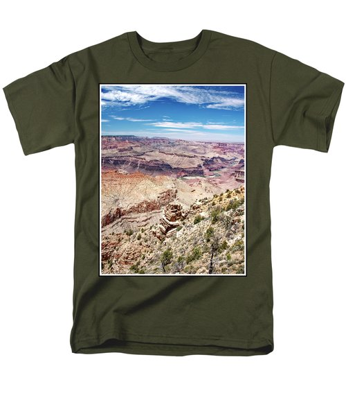Grand Canyon View From The South Rim, Arizona Men's T-Shirt  (Regular Fit) by A Gurmankin
