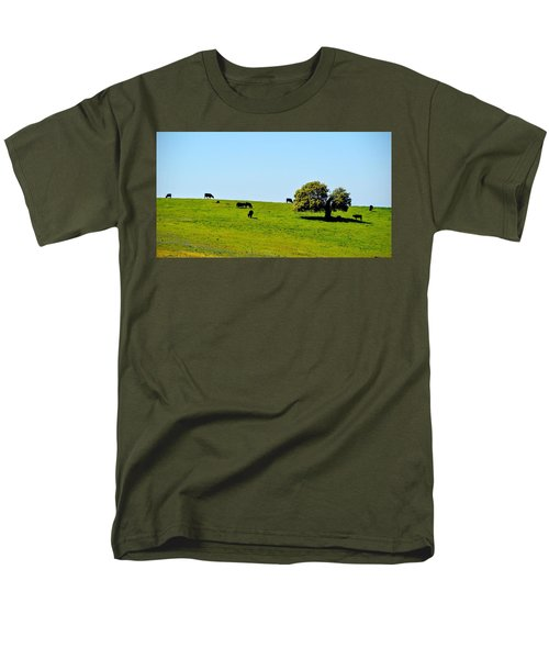 Men's T-Shirt  (Regular Fit) featuring the photograph Grazing In The Grass by AJ Schibig
