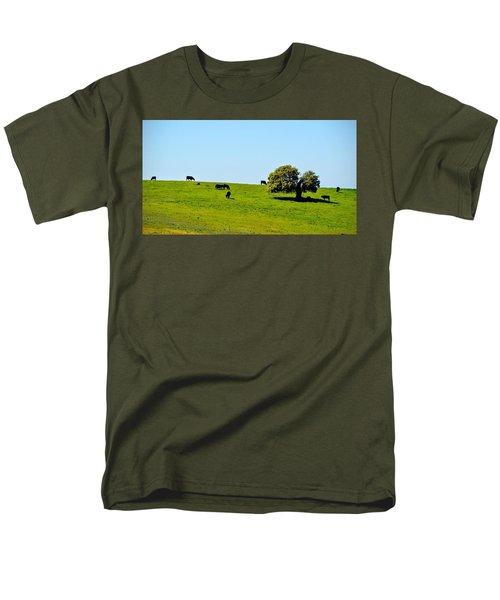 Grazing In The Grass Men's T-Shirt  (Regular Fit) by AJ Schibig