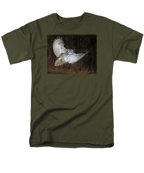 Great Horned Owl Men's T-Shirt  (Regular Fit) by CR Courson
