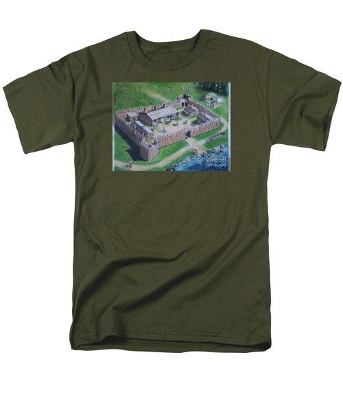 Great Lakes North Trading Post Men's T-Shirt  (Regular Fit) by Francine Heykoop