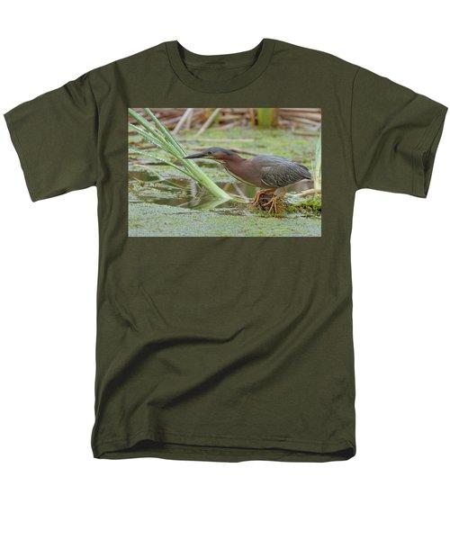 Green Heron Men's T-Shirt  (Regular Fit) by Doug Herr