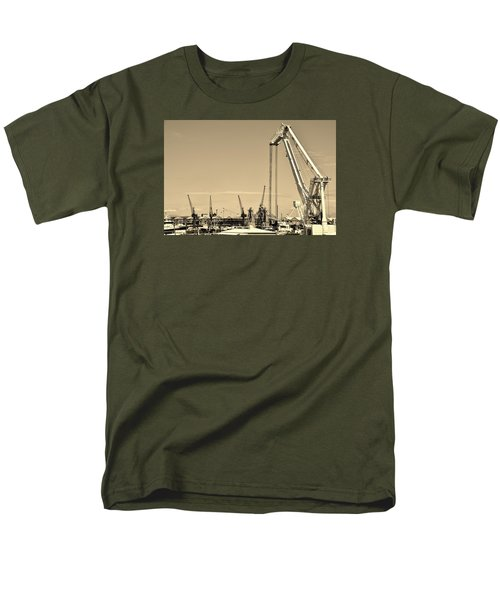 Men's T-Shirt  (Regular Fit) featuring the photograph Harbor Impression by Werner Lehmann