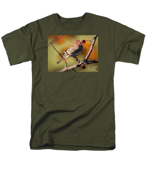 Men's T-Shirt  (Regular Fit) featuring the photograph House Finch by Ricky L Jones