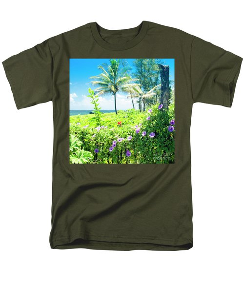 Men's T-Shirt  (Regular Fit) featuring the photograph Ipomoea Keanae Morning Glory Maui Hawaii by Sharon Mau