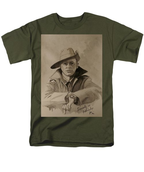 Men's T-Shirt  (Regular Fit) featuring the painting Joe by Ray Agius