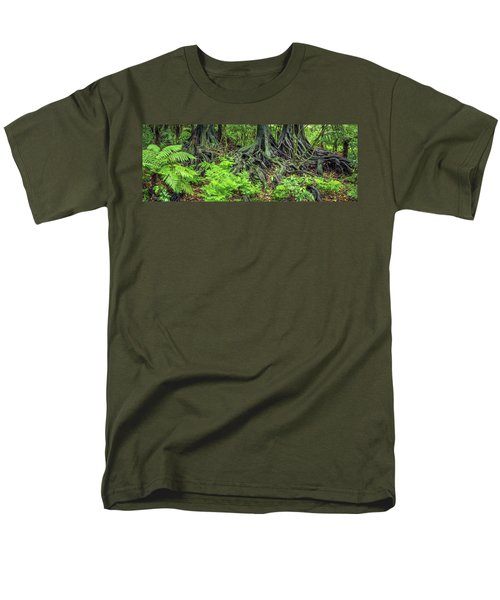 Men's T-Shirt  (Regular Fit) featuring the photograph Jungle Roots by Les Cunliffe