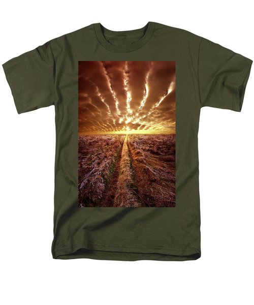 Men's T-Shirt  (Regular Fit) featuring the photograph Just Over The Horizon by Phil Koch