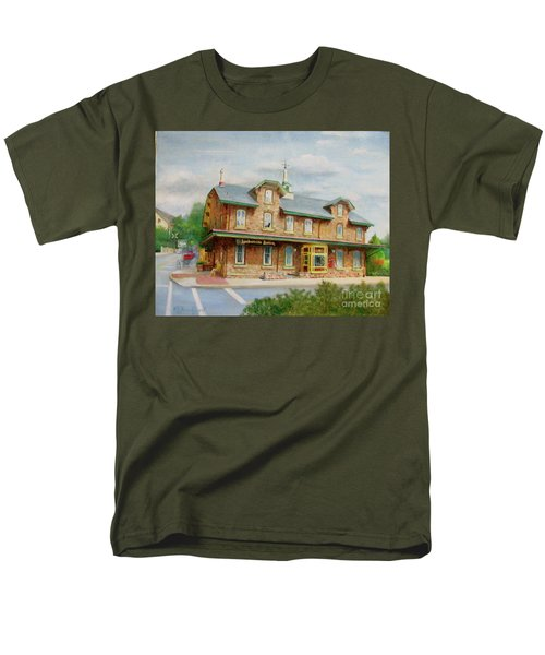 Lambertville Inn Men's T-Shirt  (Regular Fit) by Oz Freedgood