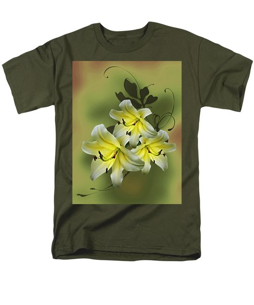 Men's T-Shirt  (Regular Fit) featuring the photograph Lily Trio by Judy Johnson