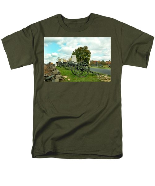 Men's T-Shirt  (Regular Fit) featuring the photograph Line Of Fire by Paul W Faust - Impressions of Light