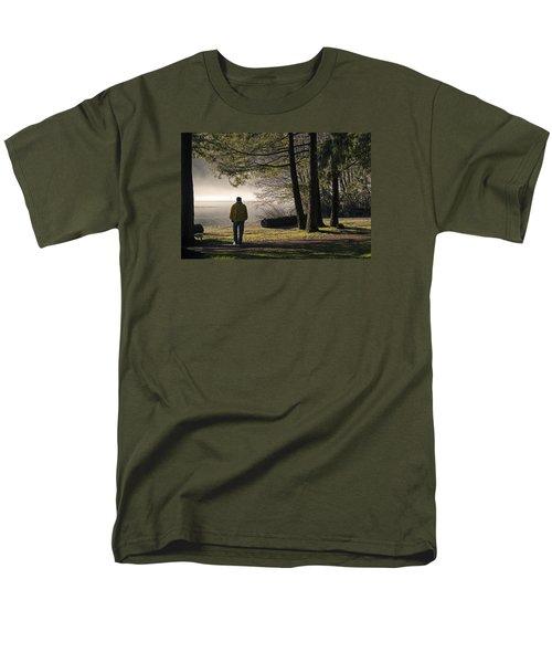 Men's T-Shirt  (Regular Fit) featuring the photograph Morning Walk by Inge Riis McDonald