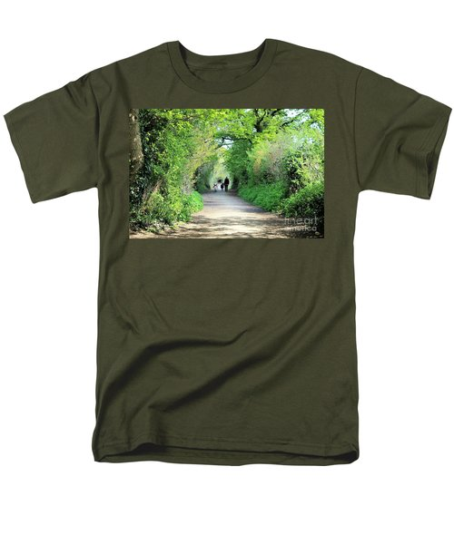 Men's T-Shirt  (Regular Fit) featuring the photograph Morning Walk by Katy Mei