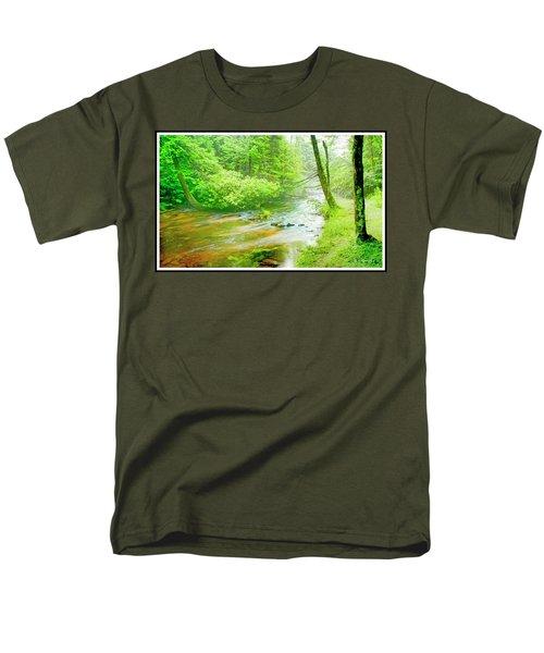 Mountain Stream, Pocono Mountains, Pennsylvania Men's T-Shirt  (Regular Fit) by A Gurmankin