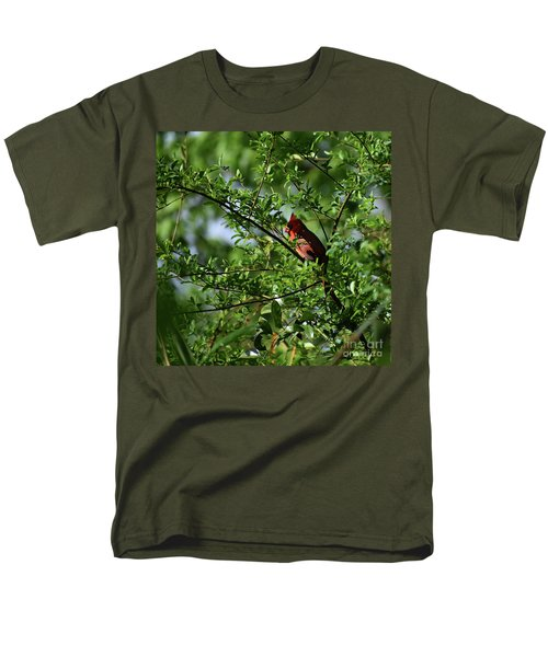 Men's T-Shirt  (Regular Fit) featuring the photograph Mr Red by Skip Willits