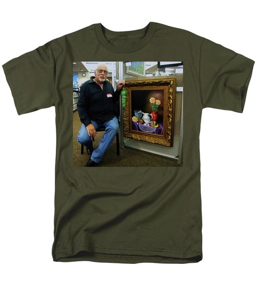 Men's T-Shirt  (Regular Fit) featuring the painting Nostalgic Vision  by Gene Gregory