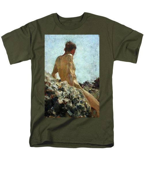 Men's T-Shirt  (Regular Fit) featuring the painting Nude Study by Henry Scott Tuke