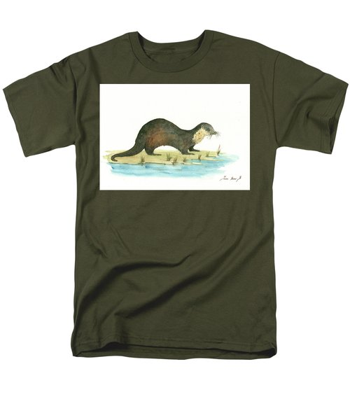 Otter Men's T-Shirt  (Regular Fit) by Juan Bosco