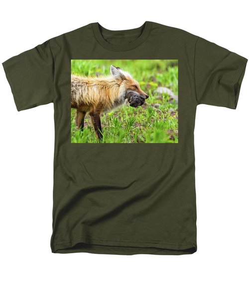 Out Foxed  Men's T-Shirt  (Regular Fit) by Scott Warner