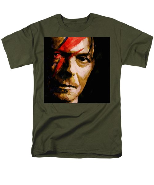 Men's T-Shirt  (Regular Fit) featuring the painting Past And Present  by Paul Lovering
