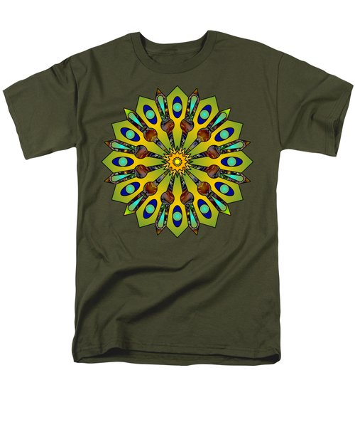 Psychedelic Mandala 004 A Men's T-Shirt  (Regular Fit) by Larry Capra