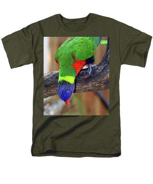 Rainbow Lorikeet Men's T-Shirt  (Regular Fit) by Inspirational Photo Creations Audrey Woods